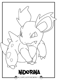 Kleurplaat Van Nidorina Downloaden Kleurplaat Pokemon