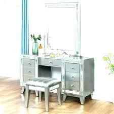 small vanity table with mirror wooden