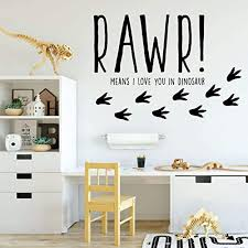 Amazon Com Dinosaur Wall Decal For Kids Room Rawr Means I Love You In Dinosaur Vinyl Sticker For Boy S Or Girl S Bedroom Playroom Or Baby Nursery Decoration Handmade
