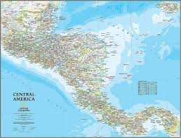 Classic Central America Map Wall Mural Self Adhesive Wallpaper Contemporary Wall Decals By Magic Murals