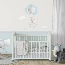 Fabric Wall Decal Elephant With Balloons Elephant Wall Decal Watercolor Decal Elephant Wall Art Nursery Wall Decal Aida Zamora Nursery Wall Decals Fabric Wall Decals Baby Room Decor