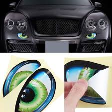 359315419 Dsycar 2pair Lot Car Eye Stickers Funny 3d Stereo Cat Eyes Pattern Car Sticker Adhesive Rearview Mirror Decal Car Stickers Automobiles Motorcycles Exterior Accessories