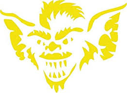 Amazon Com Gremlins Vinyl Decal Sticker For Window Car Truck Boat Laptop Iphone Wall Motorcycle Gaming Console Size 6 X 4 40 Brimestone Yellow Automotive