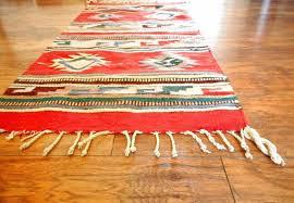 navajo woven rug vintage fringe throw