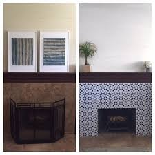Transforming Your Fireplace With Snazzydecal Tile Stickers Fireplace Home Diy Interior Decorating