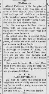 Abigail Patterson Mills Rose obituary - Newspapers.com