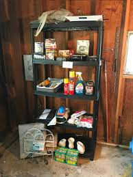 Lot 188 Plastic Storage Shelf Paint Supplies Light Bulbs Cleaners Garden Fence Stepping Stone Mix Hot Plate Much More Auction By Adam S Northwest Estate Sales Auctions