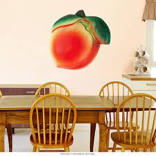 Plaster Peach Fake Fruit Cutout Wall Decal At Retro Planet