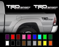 Trd Sport Decals Toyota Tacoma Racing Truck Bed Vinyl Stickers X2 2006 2011 2018 2019 Mycarboard Com