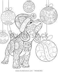 Volwassen Kleurplaat Boek Een Schattige Kerst Stockvector