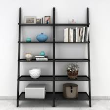 jasper leaning wall bookcase set of 2