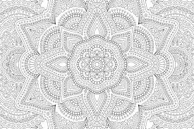 Coloring Book With Abstract Pattern Premium Vector