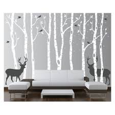 Birch Tree With Owl Wall Decals Contemporary Wall Decals By Simple Shapes