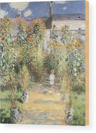 at vetheuil wood print by claude monet