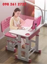 Bộ bàn ghế học sinh tiểu học dành cho bé trai và né gái (tặng đèn led)