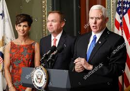 MIke Pence Mick Mulvaney Pamela West Mulvaney Editorial Stock Photo - Stock  Image | Shutterstock