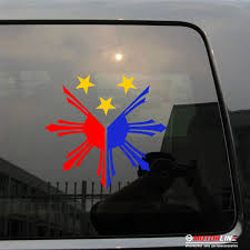 Eight Ray Sun Stars Flag Of Philippines 3 Colors Decal Sticker Car Vinyl Buy At The Price Of 4 50 In Aliexpress Com Imall Com