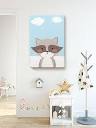 Baby Girl Room Decor Baby Boy Room Wall Decor Funny Raccoon Etsy