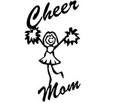 Cheer Mom Adhesive Vinyl Decal Sport Decals Spirit Decals Sport Clip Art Library