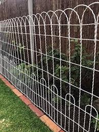 Amazon Com A Rustic Garden Decorative Scallop Top Wire Fence Roll Double Loop Garden Outdoor