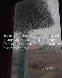 story instagram post photo rintik hujan dan rindu