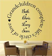 Vinyl Grandchildren Complete The Circle Of Love Wall Quote Wall Decal Ellaseal