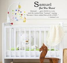 Samuel Baby Names Wall Decals Displaying The Meaning Of Names Vinyl Decal V1 Wall Decals And Art
