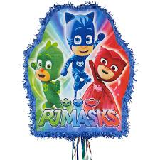 Pull String PJ Masks Pinata 18in x 22in | Party City