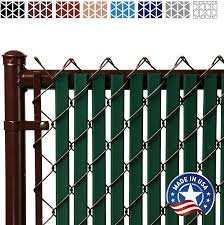Amazon Com Tube Slats Privacy Inserts For Chain Link Fence Double Wall Vertical Bottom Locking Slats For 4 Fence Height Green Garden Outdoor