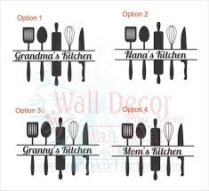 Grandma Mom S Nana S Kitchen With Utensils Wall Decals Vinyl Stickers