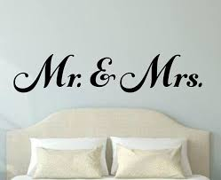 Mr And Mrs Wall Decal Mr And Mrs Vinyl Decal Couple Wall Decal Etsy Wall Decals Bedroom Decals Wall Decals For Bedroom