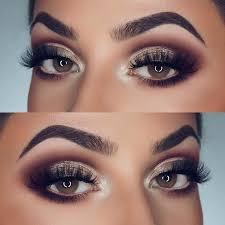 smokey eye makeup idea for brown eyes