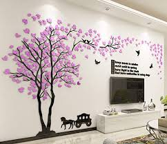 Amazon Com Fgdsa 3d Tree Wall Sticker Acrylic Forest Wall Stickers Art Wall Decals Living Room Tv Background Wall Decal Decoration Deco K 191x100cm 75x39inch Home Kitchen
