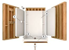 one piece showers and shower bases