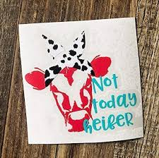 Cow With Bandana Country Vinyl Decal Sticker For Car Tumbler Cup Or Laptop Custom Sizes Skins Decals