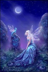 Blue Fairy and the Dragon | Fantasiewezens, Feeën, Magische wezens