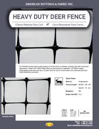 Heavy Duty Deer Fence American Nettings Fabric 1 800 811 7444