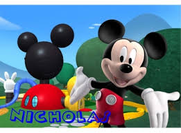 Mickey Mouse Clubhouse And Personalized Name Wall Sticker Mural 3 Ft Wide