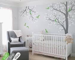 Tree Wall Decal Nursery With Branch Wall Decor Nursery Wall Etsy