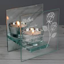 mirrored glass tealight holder
