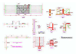 Fence With Barbed Wire In Autocad Download Cad Free 1 72 Mb Bibliocad