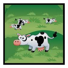 Cute Cows Farm Pasture Kids Room Poster Zazzle Com