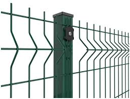 6ft Decorative Wire Mesh Curved Metal Fence Green Vinyl Coated Nylon 3d Border