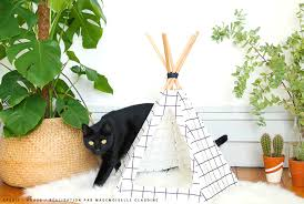diy mon tipi pour chat mademoiselle