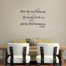 Christian Wall Stickers Bless The Food Family Love Quotes Wall Decals Religious Art Decor Free Shipping Wall Sticker Christian Wall Stickersart Decor Aliexpress