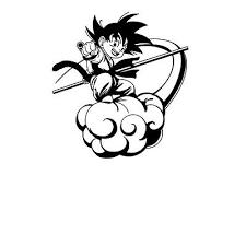 Dragon Ball Goku On Nimbus Car Window Decal Sanovide Com