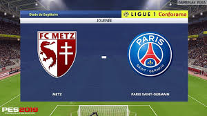 Metz vs PSG • PES 2019 Ligue 1 Conforama Realistic Gameplay - YouTube