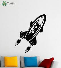 Yoyoyu Wall Decal Spaceship Wall Stickers For Kids Rooms Space Rocket Playroom Removable Interior Art Mural Home Decor Diy Sy775 Spaceship Wall Stickers Sticker For Kids Roomwall Stickers For Kids Aliexpress
