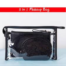 makeup bag pvc lace cosmetic bag
