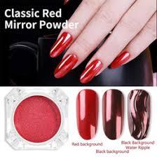 chrome mirror powder nails canada